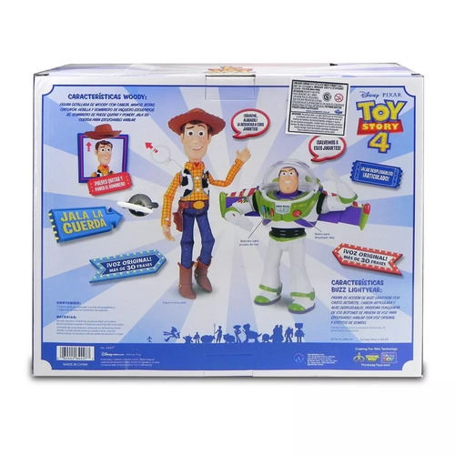 buzz lightyear y woody muñecos 60 frases toy story 4