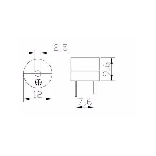 buzzer zumbador activo de 5v arduino pic raspberry arm avr