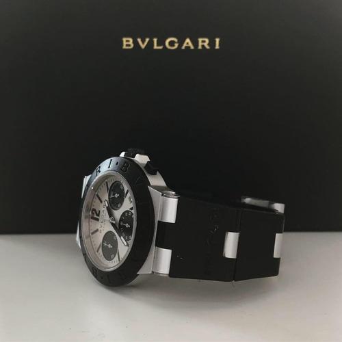 bvlgari diagono alumínio chronograph automático 38mm