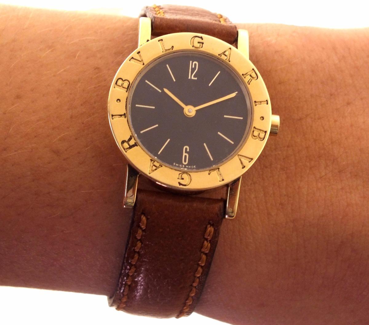 0d3373e2ea1 Relógio De Pulso Bvlgari Feminino Em Ouro 18k J17306 - R  7.999