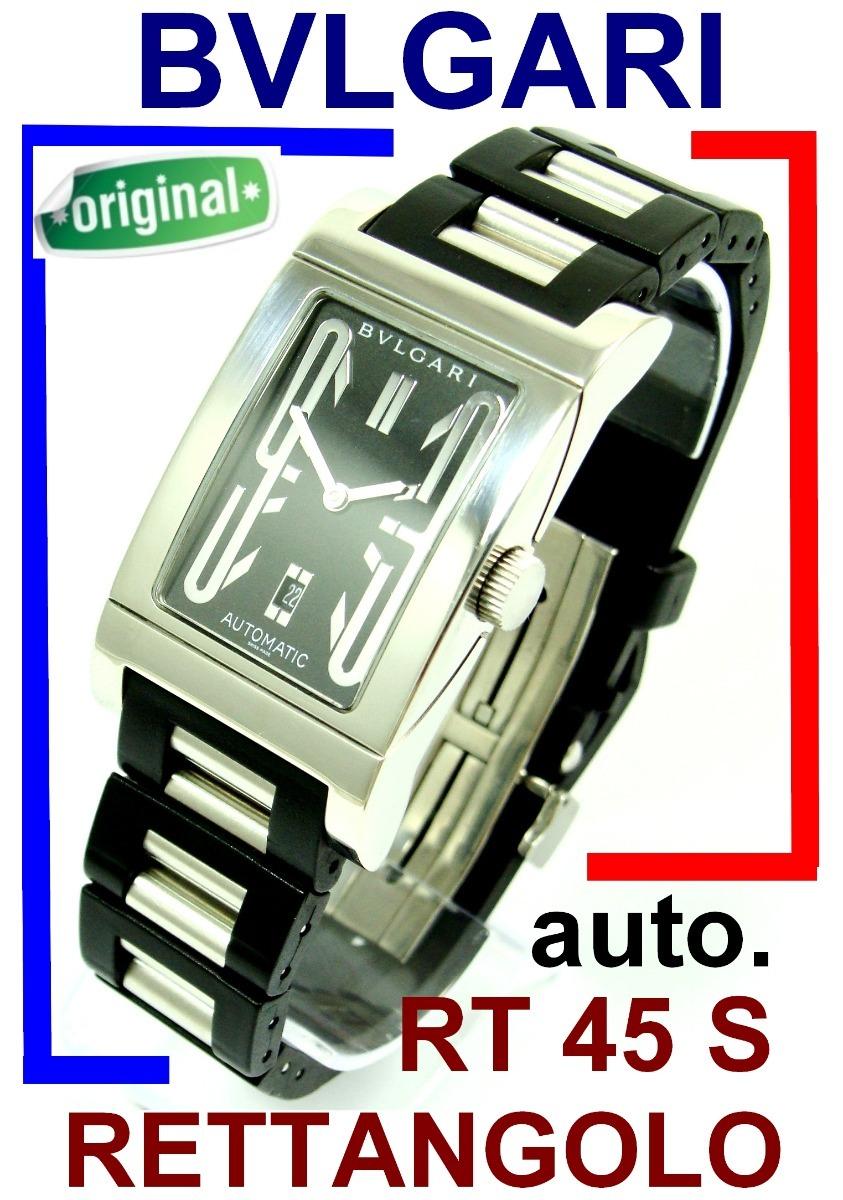 9d3208ca3e4 Bvlgari Rettangolo Rt 45 S Automático Original E Revisado! - R ...