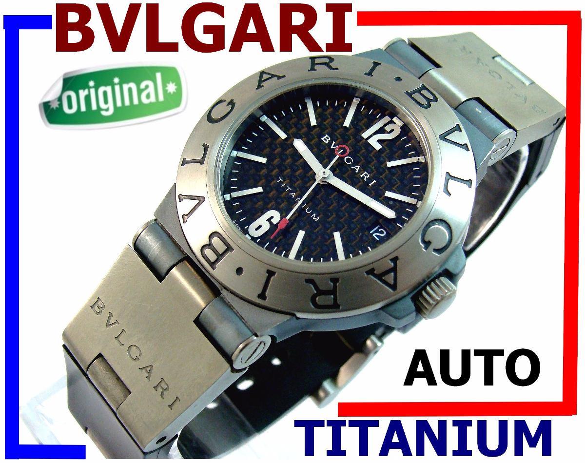 4bb223fedda Bvlgari Titanium Automático Autêntico Carbono 100% Revisado! - R ...