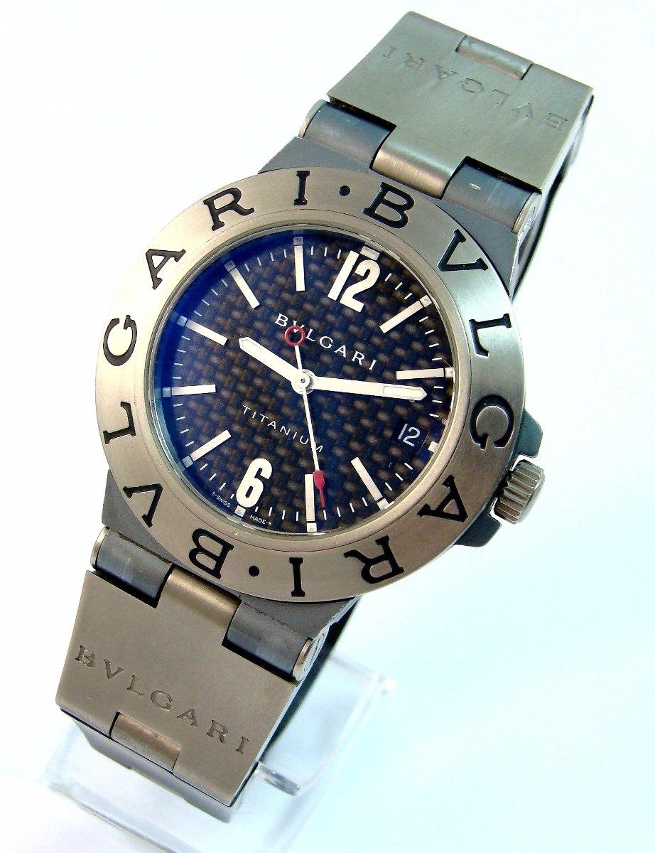 ba770d7b286b2 bvlgari titanium automático autêntico carbono 100% revisado! Carregando  zoom.