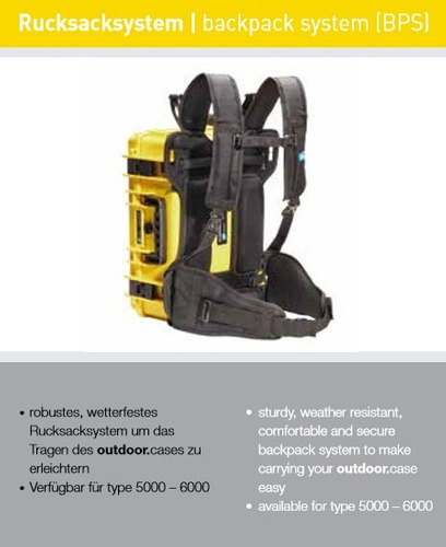 b&w estuche para exteriores type 6000/b/rpd 51x42x21cm-negro