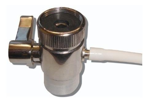 by pass de bronce cromada p/ filtros de agua de sobremesada