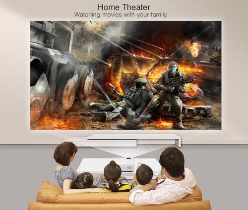 byintek marca bt140 led lcd hd video portátil mini proyector