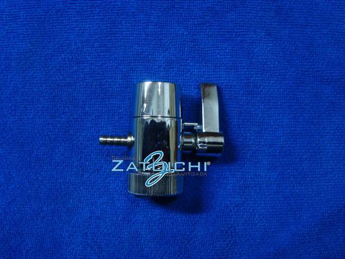 bypass  para filtro de agua derivadora de bronce cromada