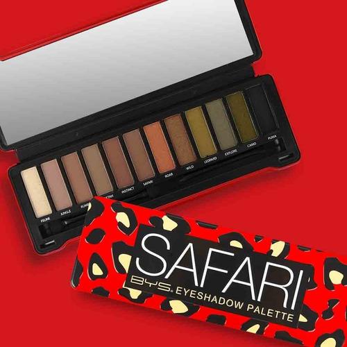 bys cosmetics paleta de sombras safari