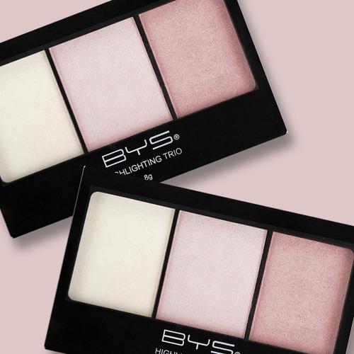 bys cosmetics trío de iluminadores para rostro especializado
