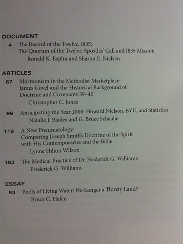 byu studies quarterly. vol. 51, nº1, 2012. en inglés