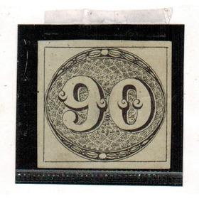 C-03 - Olho De Boi - 1843 - Sem Carimbo - 90 Rs - Preto