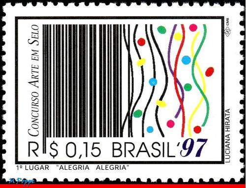 c-2026 1997 alegria alegria - 1º lugar concurso arte no selo