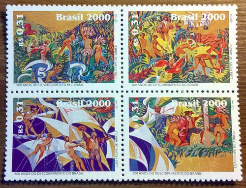 c 2250 selo descobrimento brasil indio portugal 2000