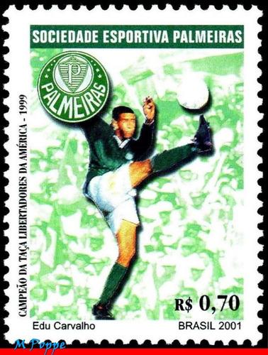 c-2404 2001 campeões libertadores - palmeiras - futebol