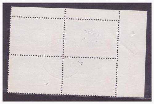c-670 1970 quadra carimbo 1ºdia 10º brasília-df
