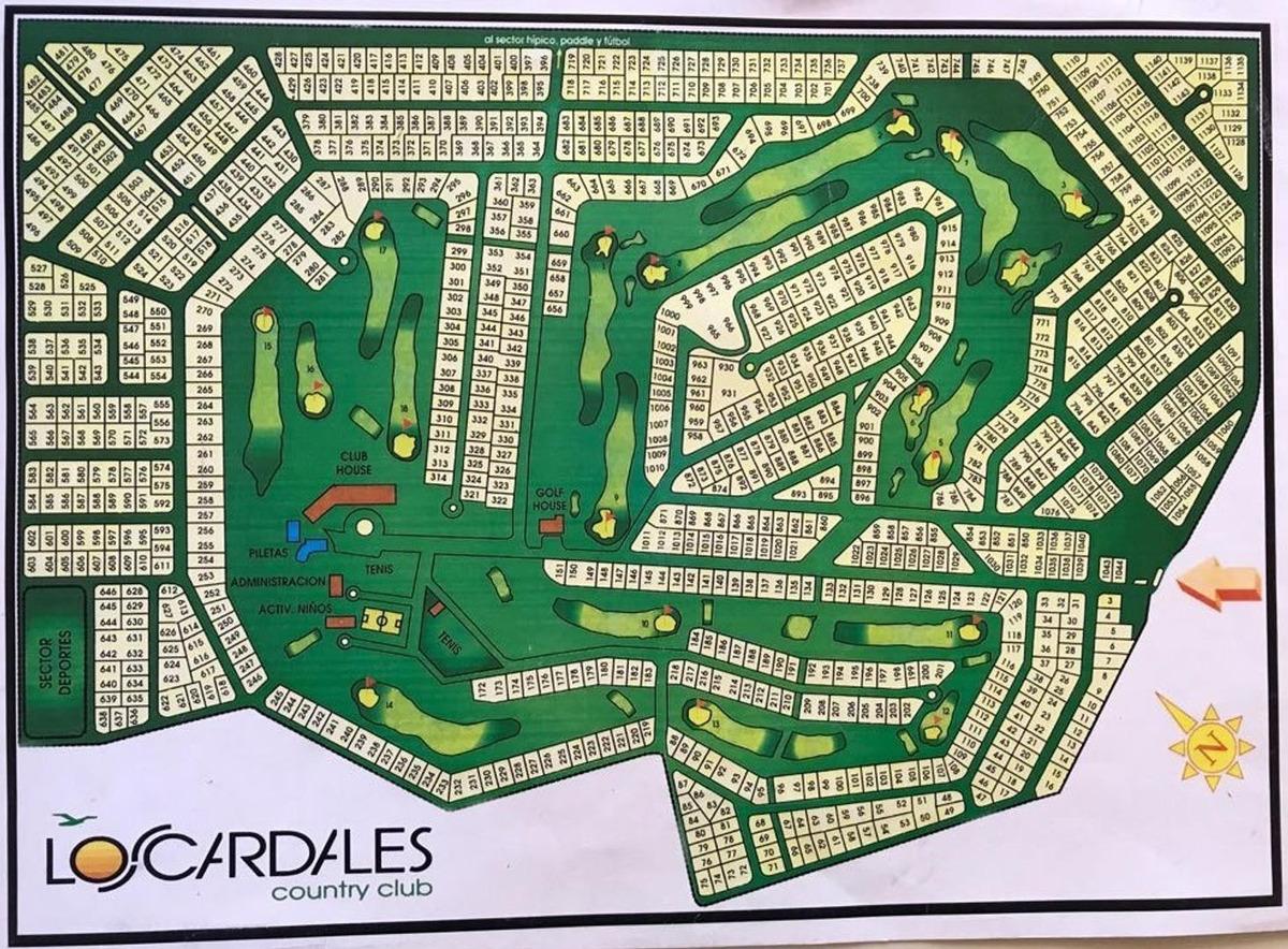c. c. los cardales lote 700 m²  al golf sobre calle central