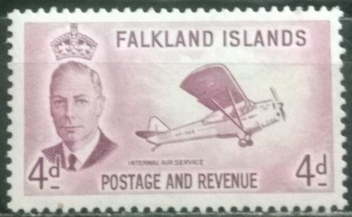 c@- malvinas - falkland - avión - george vi - yv# 106 -
