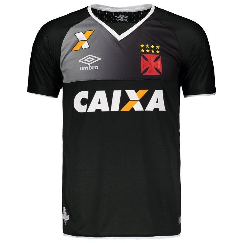 82752c7e4e C  Nota! Camisa Vasco Goleiro Oficial Umbro Preta 2017 2018 - R  158 ...
