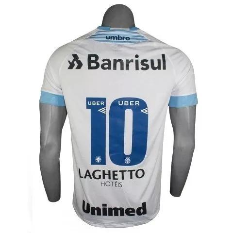 822c3e418c C  Nota Fiscal! Camisa Gremio Game Oficial Umbro 2018 Branca - R ...