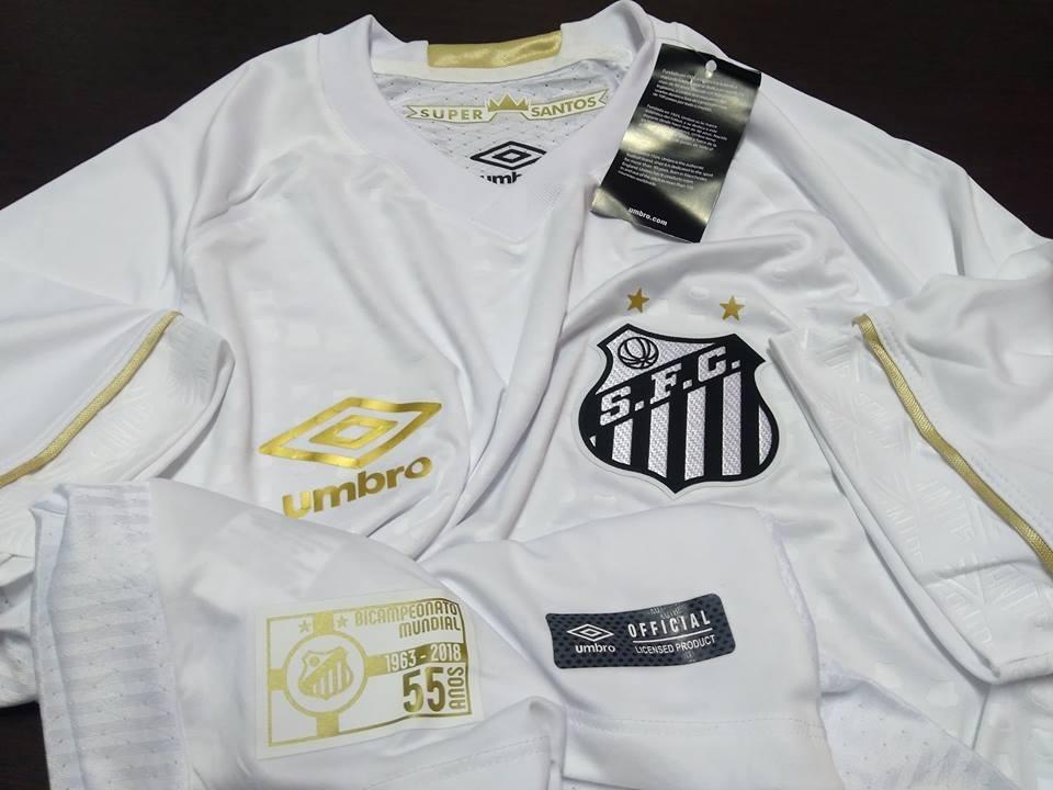 C  Nota Fiscal! Camisa Santos Game Oficial I Umbro 2018 2019 - R ... ca0e2f799a6e1