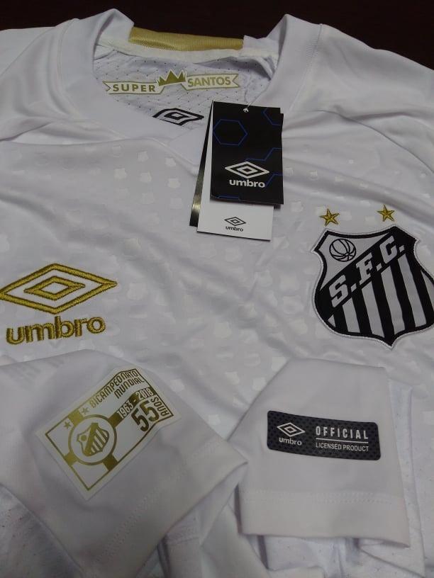 589ef2af5b C  Nota Fiscal! Camisa Santos Home Oficial I Umbro 2018 2019 - R ...