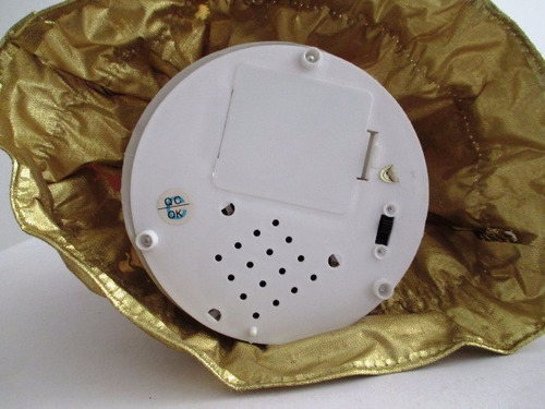 c0166  anjo de natal com caixa de música funcionando, medind