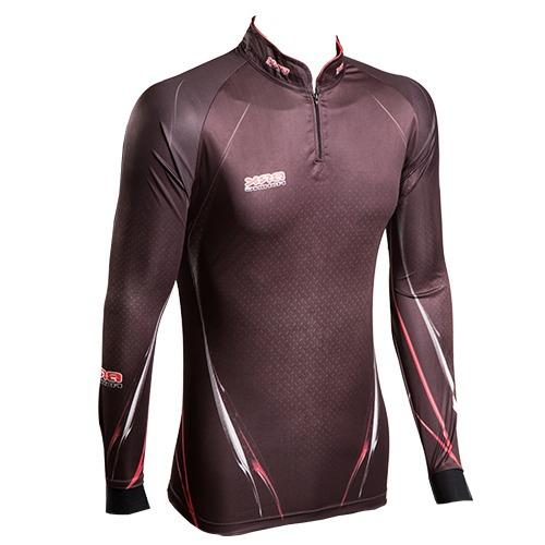c023 camiseta sublimada de pesca protecao solar tucuna black