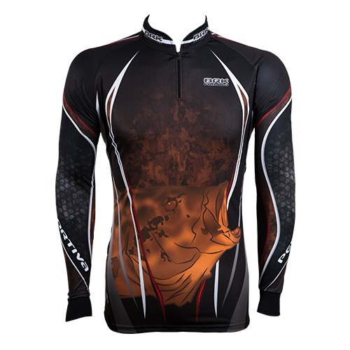 c028 camiseta sublimada de pesca protecao solar tucuna monst