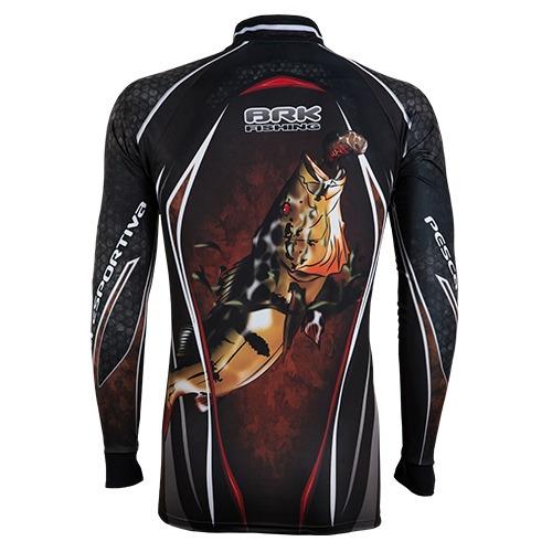 c028 camiseta sublimada pesca protecao solar tucuna brk