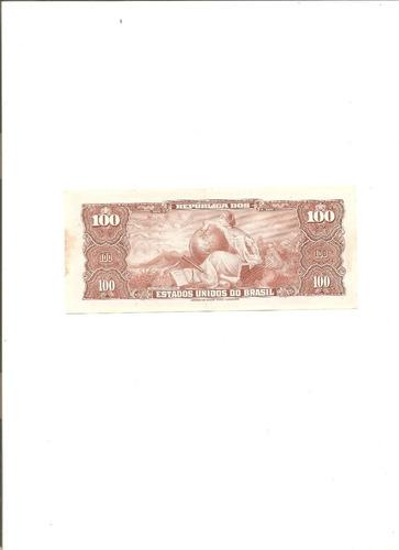 c036 - cédula 100 cruzeiros - 1ª estampa - 1964