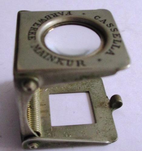 c0623  contador de fios alemão cassella 15mm, em metal, com