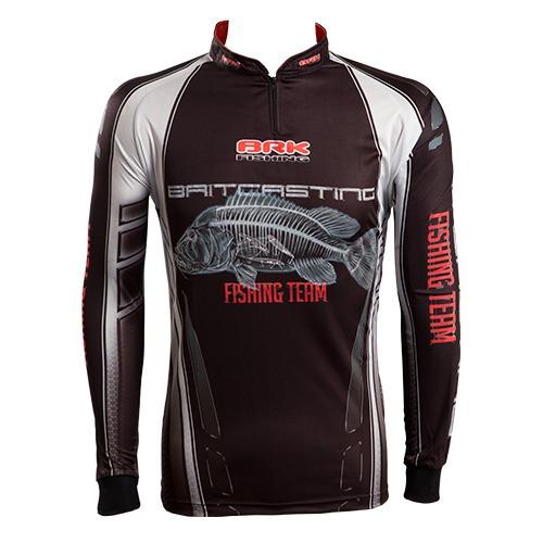 c068 camiseta sublimada pesca protecao solar baitcasting brk