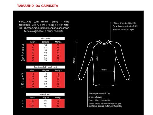 c075 camiseta sublimada de pesca protecao solar feminina brk