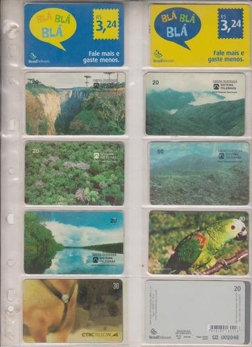 c102 - 10 cartões telefônicos coleção o lote por r$ 9,00