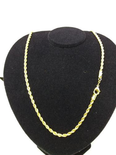 c112 corrente cordão baiano 60 cm folheado a ouro 18k