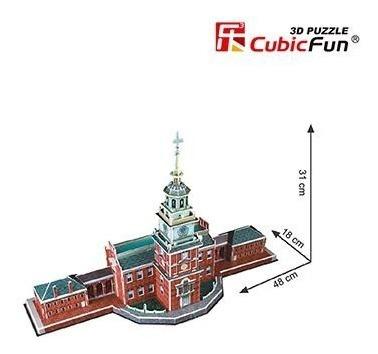 c120h independence hall rompecabezas 3d cubicfun 54 piezas