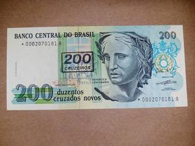 C212a Fe 200 Cruzeiros 1990 Asterisco Reposição Série 0002