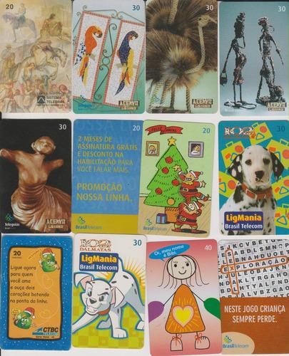 c27 - 10 cartões telefônicos coleção o lote por r$ 9,00