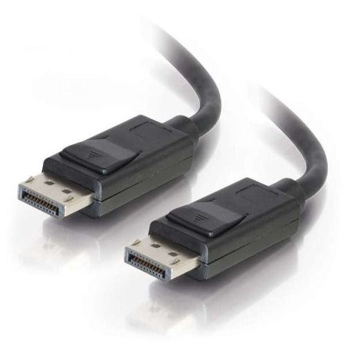 c2g 15ft displayport cable con pestillos m / m, negro