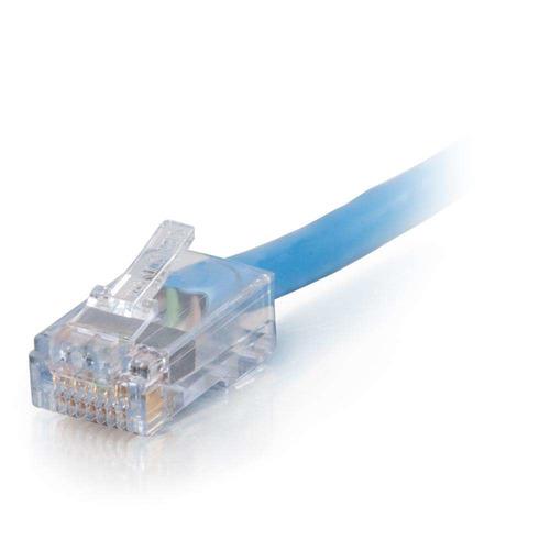 c2g 25 pies (7.62 m), cat6, cable de conexión ensamblado, az