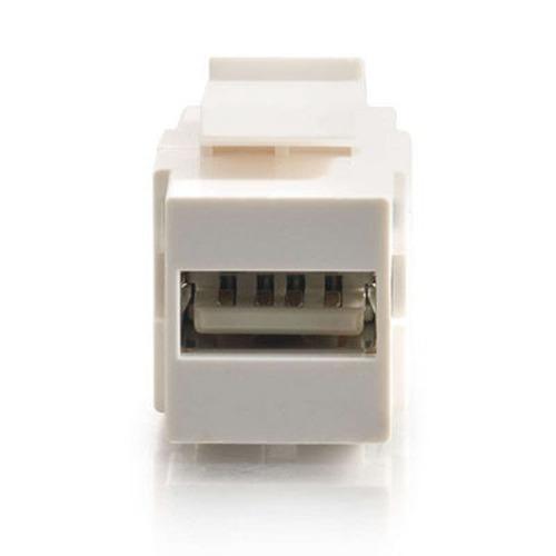 c2g snap-in usb a / b módulo de inserción trapezoidal, blanc