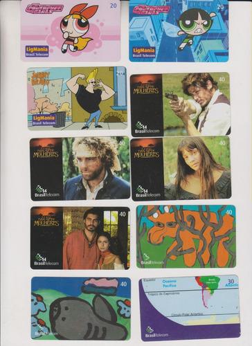 c36 - 10 cartões telefônicos coleção o lote por r$ 11,00