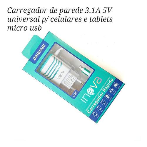 c397 - carregador usb mais rápido 5v celular lg kit c/ 6