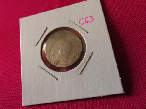 #c63 moneda error 20 centavos madero 1976 tipo descentrado