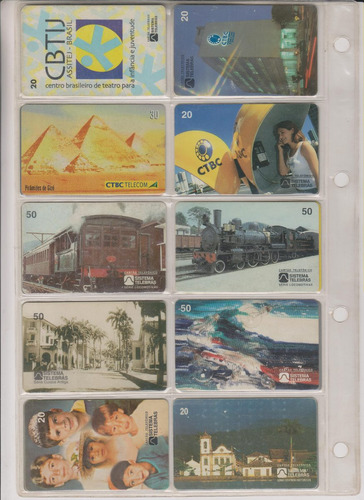 c66a - 10 cartões telefônicos coleção o lote por r$ 9,00