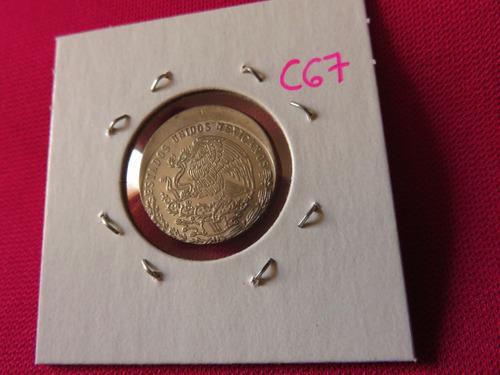 #c67 moneda error 20 centavos madero 1979 tipo descentrado