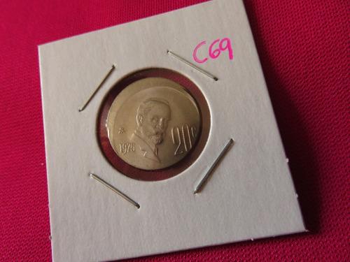 #c69 moneda error 20 centavos madero 1975 tipo descentrado