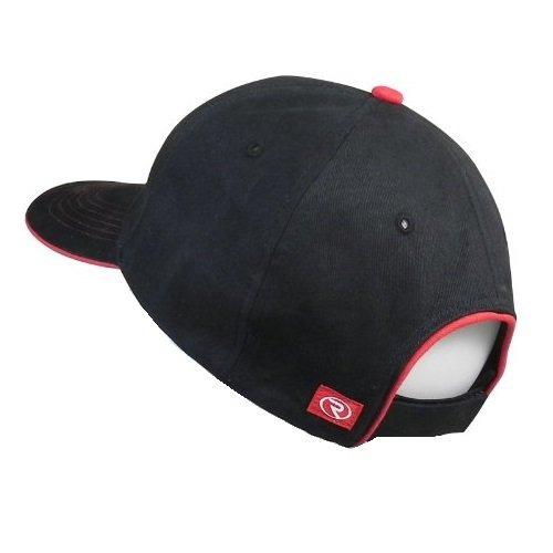 c7 corvette logo structured cap negro-rojo