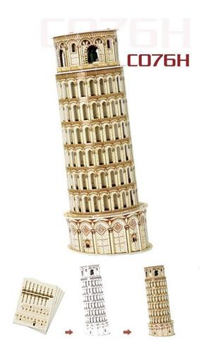 c706h torre de pisa rompecabezas 3d 13 piezas de cubicfun