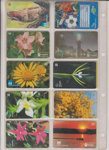 c71 - 10 cartões telefônicos coleção o lote por r$ 9,00
